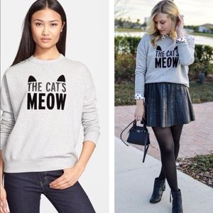 KATE SPADE THE CATS MEOW SWEATSHIRT XS